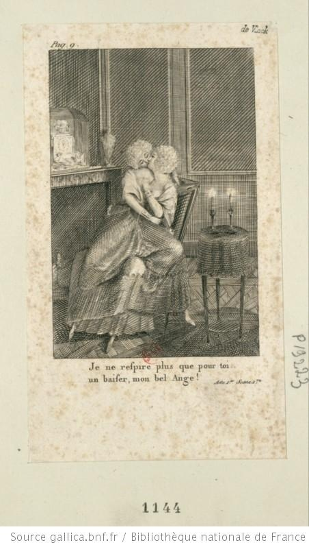 A libel of Marie Antoinette with the Princesse de Lamballe